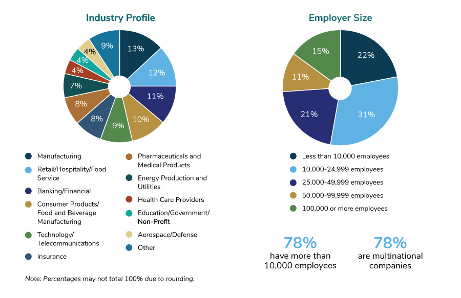 Demographics of Large Employers Completing Survey, 2020